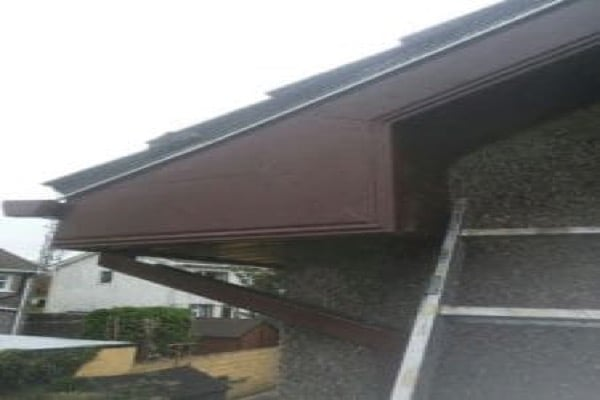 Finished Rotted pvc Fascia and soffit